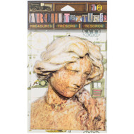 7 Gypsies Architextures Treasures Adhesive Embellishments - Weathered Lady Statue 4""