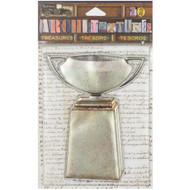 "7 Gypsies Architextures Treasures Adhesive Embellishments - Patina Metal Urn 4"""