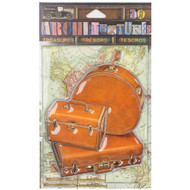 7 Gypsies Architextures Treasures Adhesive Embellishments - 3 Piece Tan Luggage Set