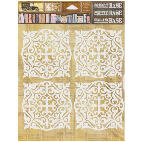 7 Gypsies Architextures Short Base Adhesive Embellishments - Tiles