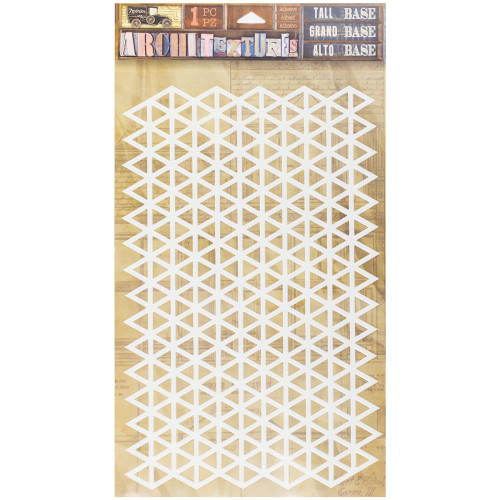 7 Gypsies Architextures Tall Base Adhesive Embellishments - Triangle Grid