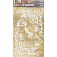 7 Gypsies Architextures Tall Base Adhesive Embellishments - Swirls