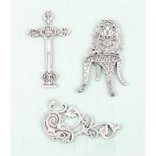 Prima Marketing Shabby Chic Treasures Metal Embellishments Cast Iron
