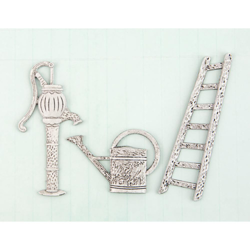 Prima Marketing Shabby Chic Treasures Metal Embellishments - Garden