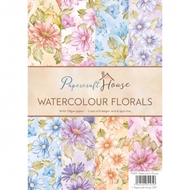 Wild Rose Studio - Papercraft House A4 Paper Pack - Watercolor Florals