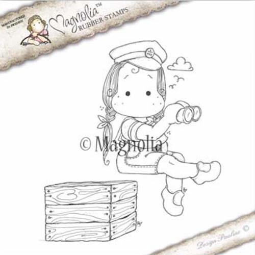 Magnolia Stamps Nautical 2017 - Sea Captain Tilda With Box