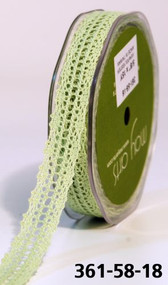MAY ARTS CROCHET LACE TRIM 5/8 LIGHT CELERY