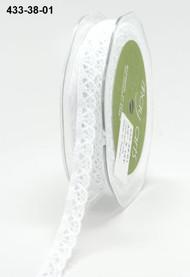 CROCHET LACE TRIM 3/8 WHITE