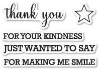 Memory Box Craft Die - Thank You Sentiments clear stamp set