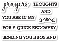 Memory Box - Prayers Sentiments clear stamp set