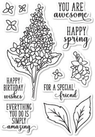 Memory Box - Spring Lilacs clear stamp set