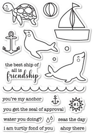 Memory Box -Seal of Approval clear stamp set