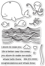 Memory Box -Whale Hello There clear stamp set