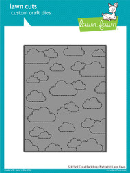 Lawn Fawn - Dies - stitched cloud backdrop: portrait ( LF1424)