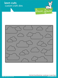 Lawn Fawn - Dies - stitched cloud backdrop: landscape (LF1423)