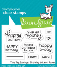 Lawn Fawn -Tiny Tag Sayings: Birthday ( LF1421)