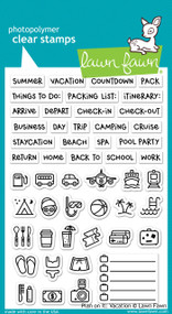 Lawn Fawn -Clear Stamps-Plan On It: Vacation