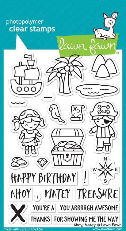 Lawn Fawn -Clear Stamps-Ahoy, Matey 4x6