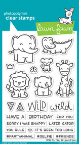 Lawn Fawn -Clear Stamps-Wild For You 4x6