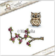 Magnolia Stamps I Believe In Unicorns 2017 - Climbing Rose With Owl (MAG-6095) (view)