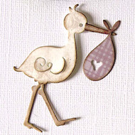 Magnolia Stamps - DooHickey - Early Bird 13 - Stork