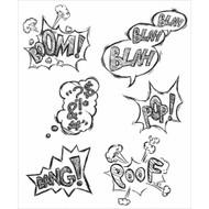 Tim Holtz Cling Rubber Stamp Crazy Thoughts (CMS238)