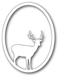 Memory Box Die - Single Deer Oval Craft Die 99834