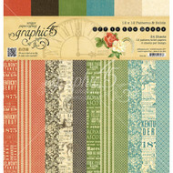 Graphic 45 - Off To The Races - 12 x 12 Patterns and Solids Paper Pad (4501461)