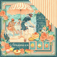Graphic 45 - Cafe Parisian - 12 x 12 Scrapbook Paper Cafe Parisian