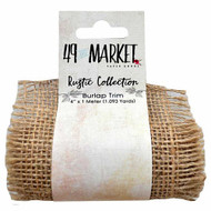 49 and Market - Burlap Net Ribbon Roll - Natural