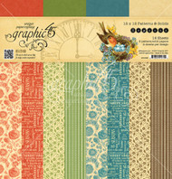 Graphic 45 - Seasons - 12 x 12 Patterns & Solids Paper Pad (4501625)