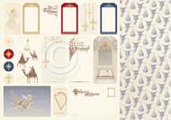 Pion Pion Design - Long Ago In Bethlehem - 12 X 12 - Tags