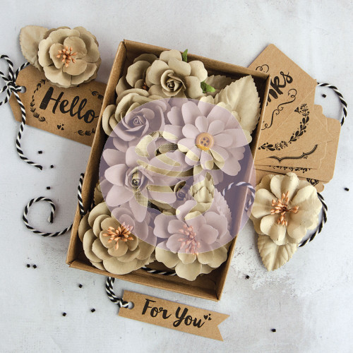 Prima Marketing Box Flowers - Sandstone