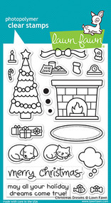 Lawn Fawn 4 x 6 Clear Stamp - Christmas Dreams (LF1466)
