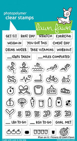 Lawn Fawn 4 x 6 Clear Stamp - Plan On It: Fitness (LF1483)