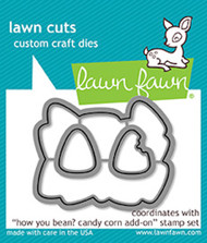 Lawn Fawn Lawn Cuts - How You Been? Candy Corn Add On (LF1461)