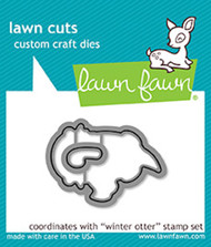 Lawn Fawn Lawn Cuts - Winter Otter (LF1475)