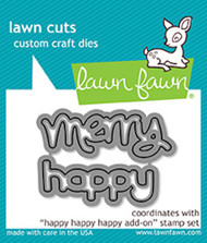 Lawn Fawn Lawn Cuts - Happy Happy Happy Add On (LF1479)