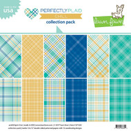 Lawn Fawn Perfectly Plaid Chill Paper Pack 12 x 12 (LF1522)