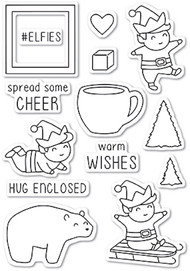 Memory Box - Playtime Elves Clear Stamp Set (CL5216)