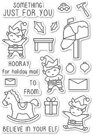 Memory Box - Christmas Elves Clear Stamp Set (CL5217)