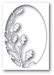Poppystamp Die - Oak Leaf Oval Collage Craft Die
