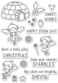 Poppystamp - Wintertime Fairies Clear Stamp Set