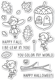 Poppystamp - Autumn Fairies Clear Stamp Set