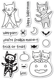 Poppystamp - Halloween Costume Cats Clear Stamp Set