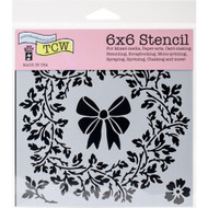 The Crafters Workshop 6 x 6 Stencil - Big Wreath (TCW721)