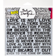 The Crafters Workshop 6 x 6 Stencil - Love Sonnet (TCW737)