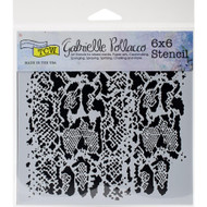 Crafters Workshop 6 x 6 Stencil - Snake Skin (TCW746)
