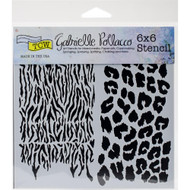 Crafters Workshop 6 x 6 Stencil - Wild Prints (TCW748)