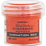 Ranger - Wendy Vecchi Embossing Powder .63oz - Carnation Red (WEP 48022)